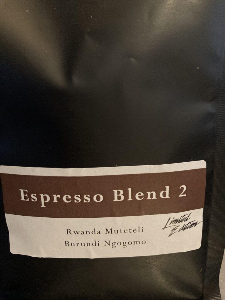Limited edition espresso blend